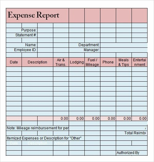 excel expense report template datariouruguay