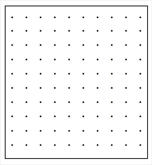 dotted paper template