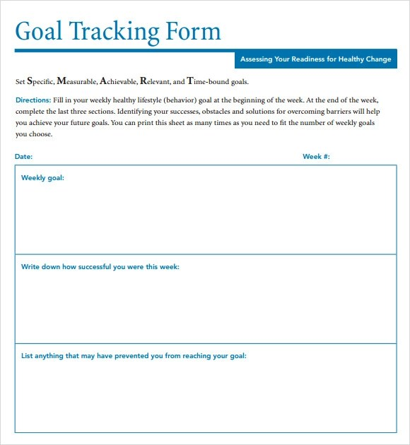 Budget Tracking Template Excel – Sample Goal Tracking