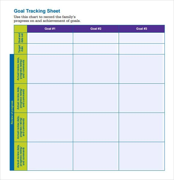 tracking sheets template