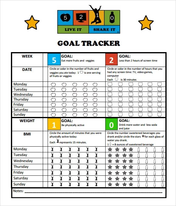 Sample Goal Tracking - 9+ Documents in PDF, Excel - sample goal tracking