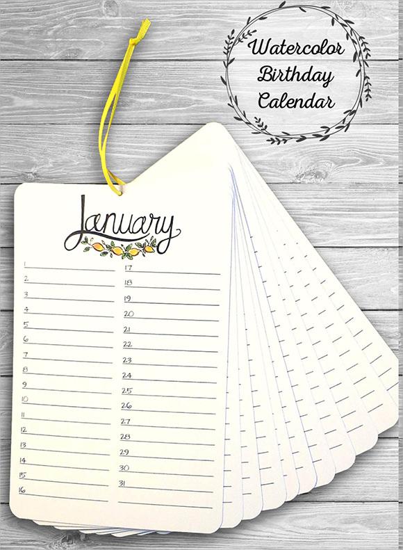13+ Birthday Calendar Templates Sample Templates - perpetual calendar templates