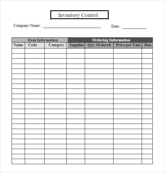 6+ Inventory Tracking Samples Sample Templates
