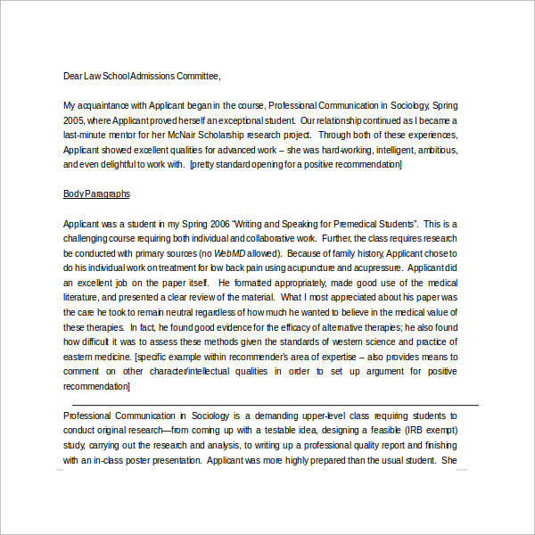 30+ Sample Letters of Recommendation for Scholarship \u2013 PDF, DOC