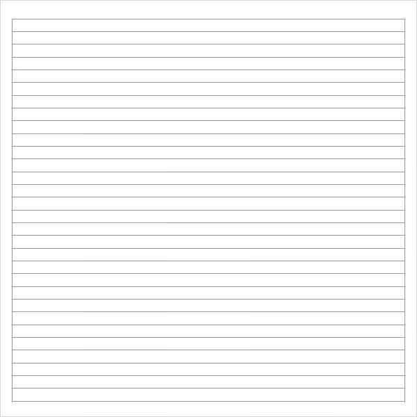 Notebook Paper - 9+ Download Documents in PDF - notebook paper download