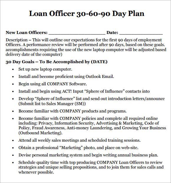 Business Plan Template Loan Officer | Cover Letter Sample For Job