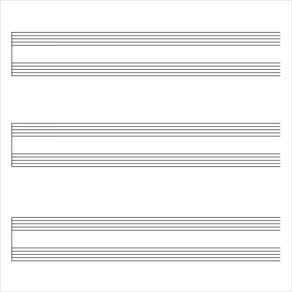 9 Sample Music Staff Paper Templates to Download for Free Sample - music staff paper template