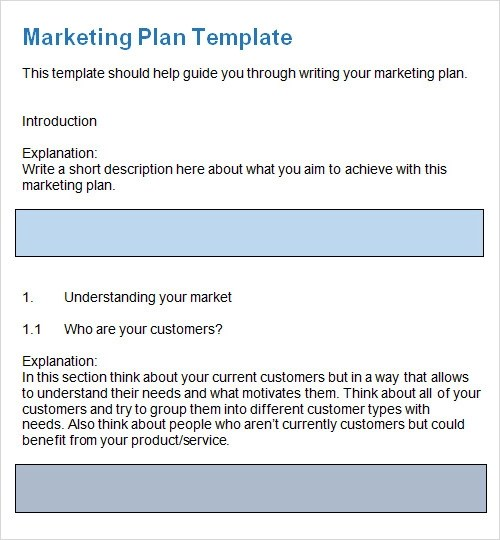 marketing plan budget template - marketing plan template word
