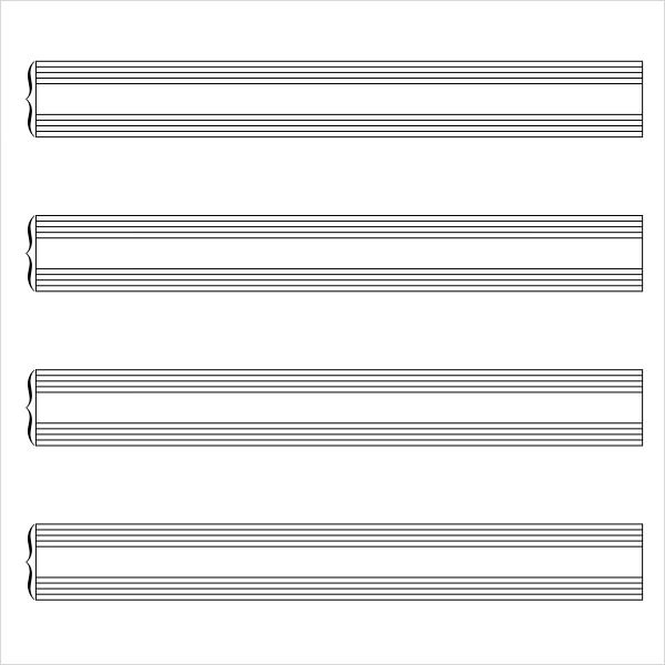 Music Staff Paper - 8+ Free Download for PDF , Word - music staff paper template