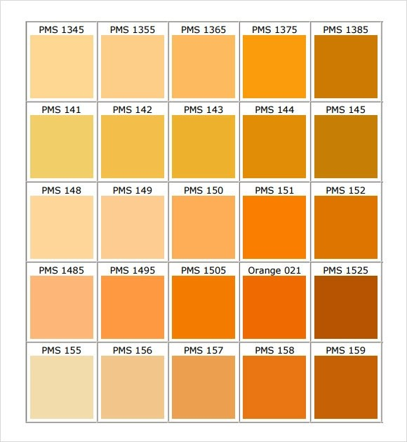 11+ Sample General Color Chart Templates Sample Templates - General Color Chart Template