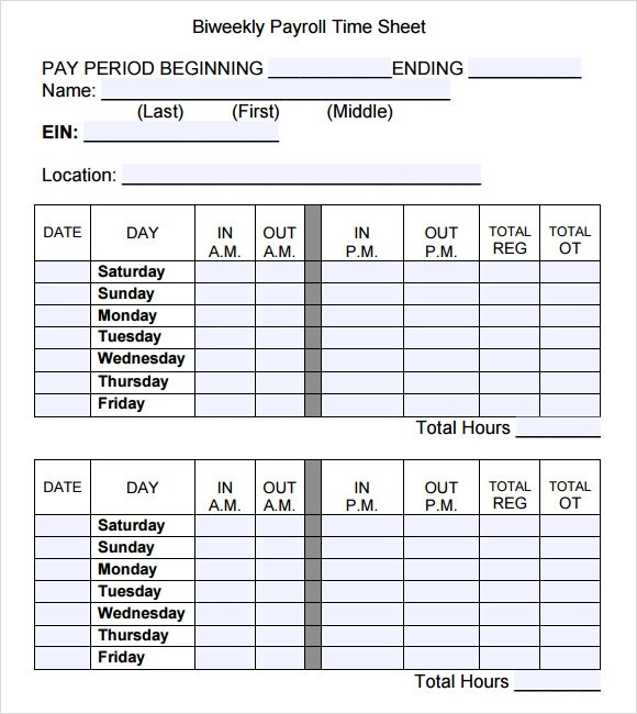 Payroll Time Sheets Forms Template Template For Resumes Free