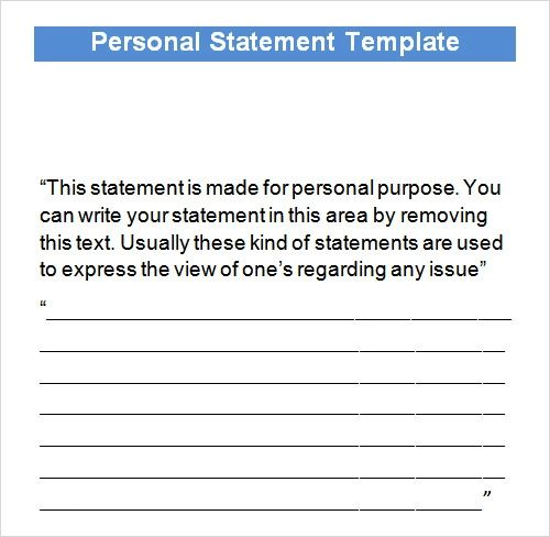 personal financial statement format template