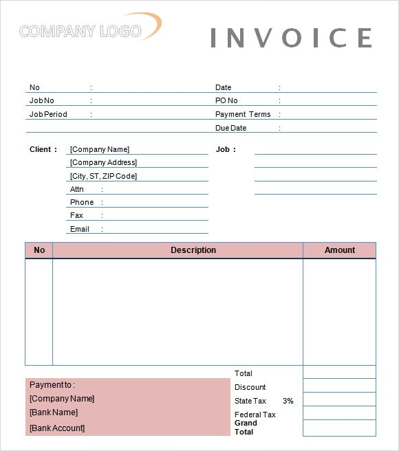 Sample Invoice Photography – Photography Invoice