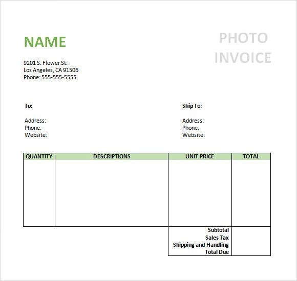 8+ Photography Invoice Samples Sample Templates - Invoice Word Templates