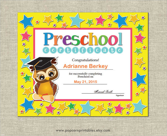 Preschool-Graduation-Certificate-Templatejpg - graduation certificate template free