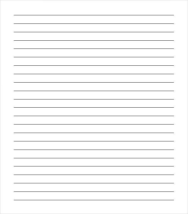 10+ Sample College Ruled Paper Templates Sample Templates - Print College Ruled Paper