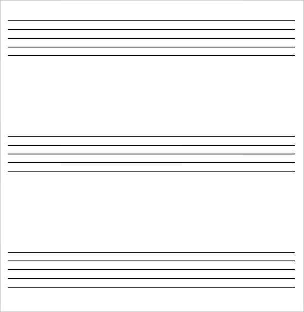7+ Printable Staff Paper Samples Sample Templates
