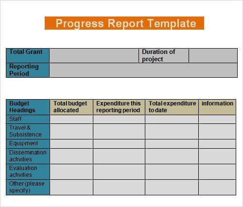 Report Template - 16+ Download Free Documents in PDF, Word, Excel - progress reports templates
