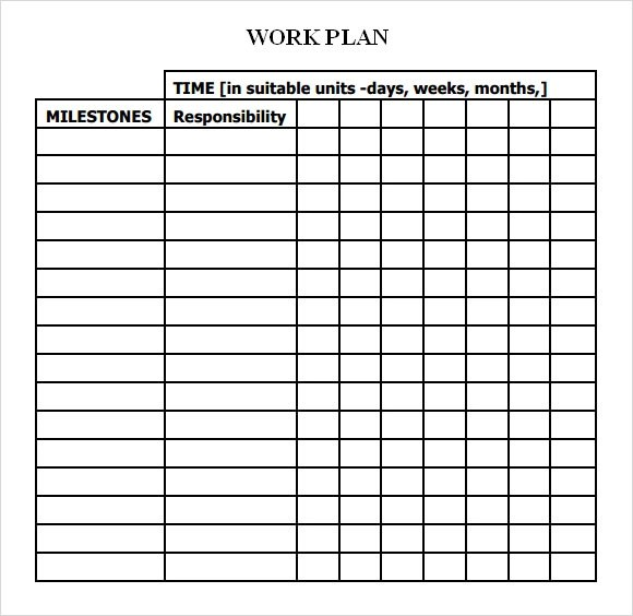 Work Plan Template Cdc – Iutw