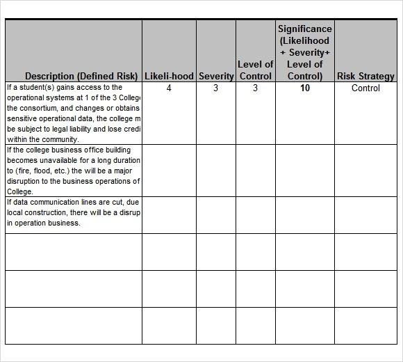 9 Sample Risk Analysis Templates to Download Sample Templates - download risk assessment template