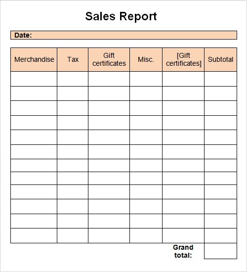 Monthly Report Format  Monthly Sales Report Sample