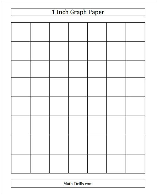 7+ Sample Printable Graph Papers Sample Templates - 1 inch graph paper printable