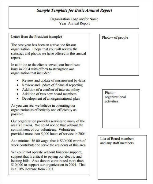 sample annual report – Sample Annual Report
