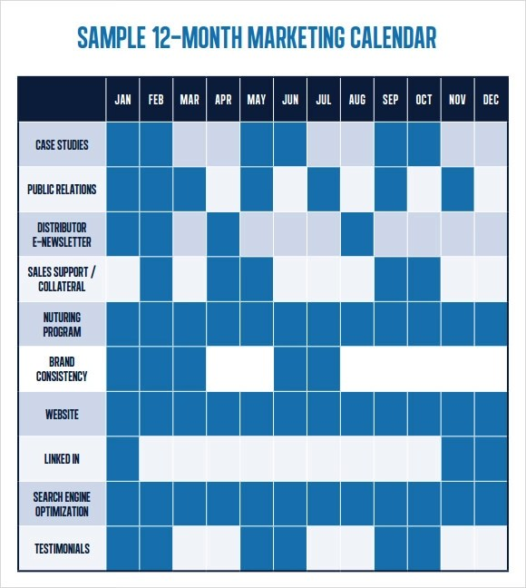 6+ Marketing Schedule Templates Sample Templates - sample marketing schedule