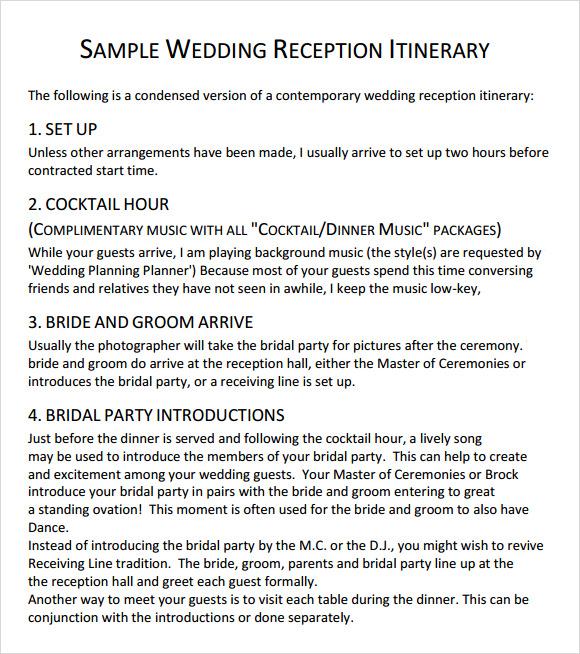 Wedding Agenda - 9+ Download Free Documents In PDF