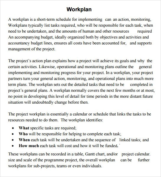 Work Plan Template - 17+ Download Free Documents for Word, Excel, PDF
