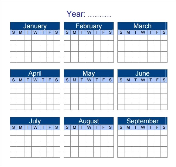 Yearly Calendar Template - 7+ Download Premiuim and Free Documents