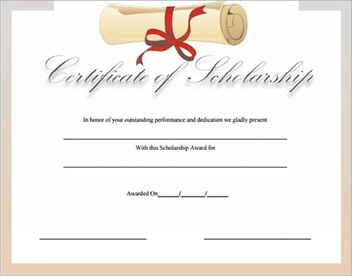 13+ Sample Certificates - Documents Download in PDF, Word, PSD - sample scholarship certificate