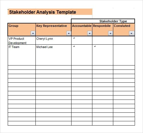 Stakeholder Analysis Template Excel  Resume Ideas  NamanasaCom