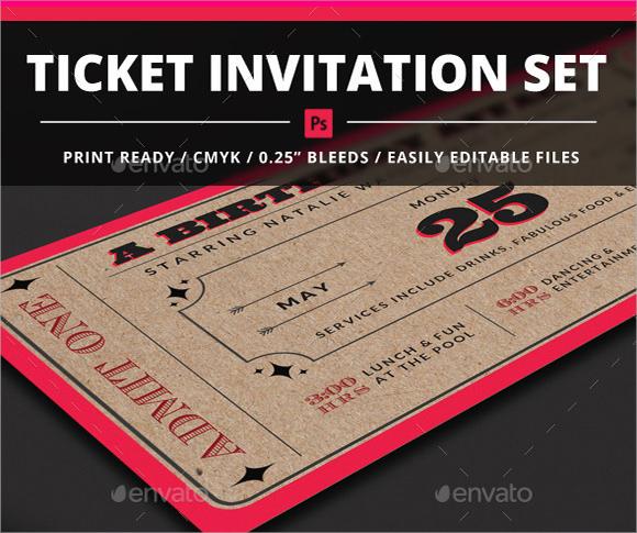 9+ Sample Ticket Invitations Sample Templates