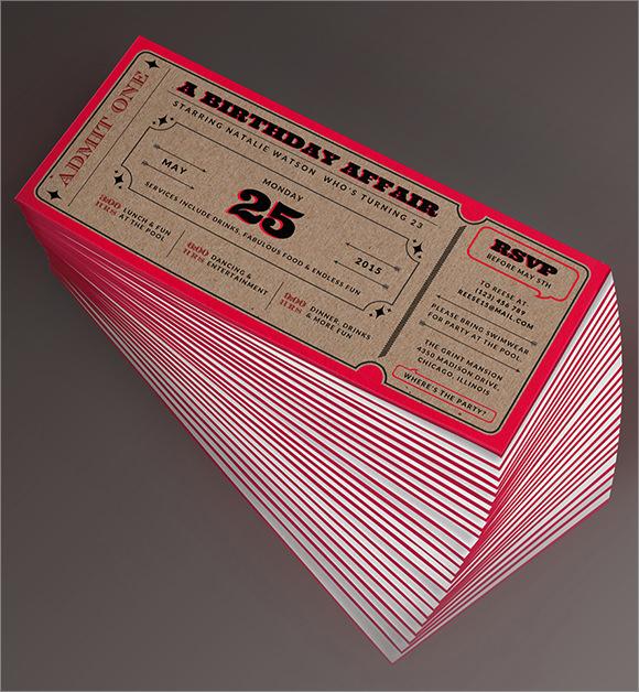 9+ Sample Ticket Invitations Sample Templates - ticket invitation