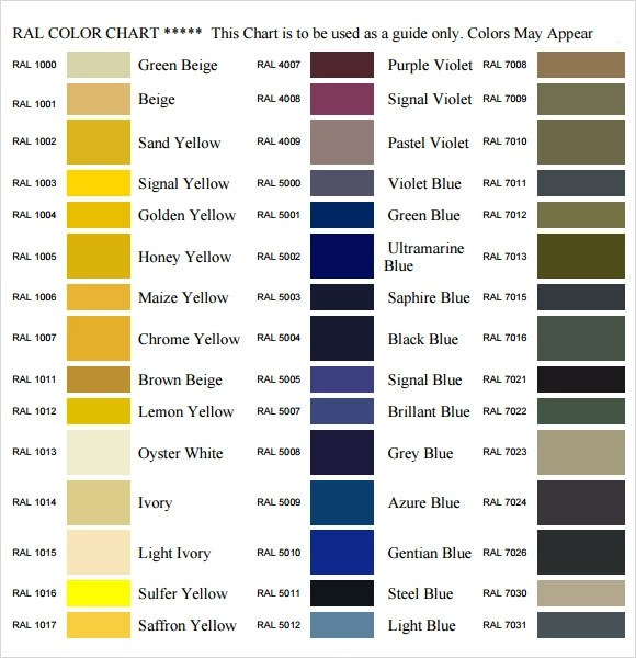 Delightful ... Sample General Color Chart   10+ Documents In PDF   Color Chart  Template ...