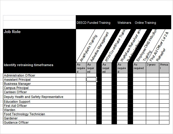 Sample Training Needs Analysis Template - 11+ Documents in PDF, Word - 9 training plan examples in word pdf