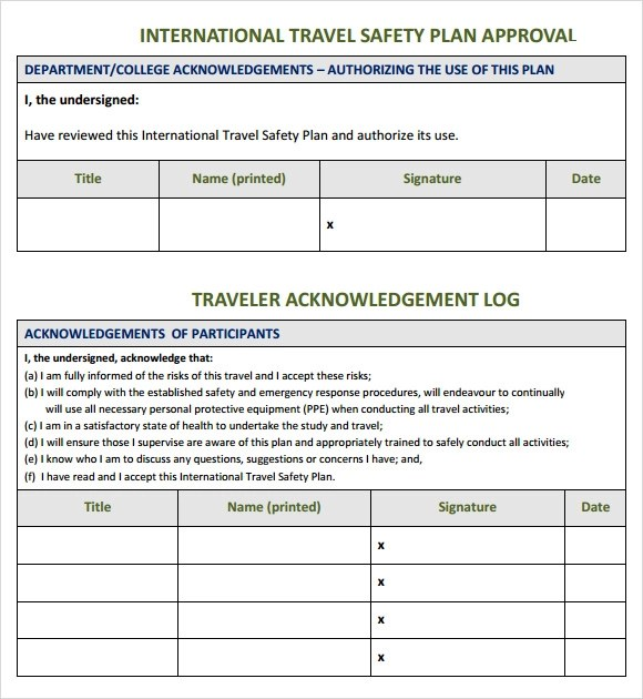 8+ Sample Safety Plan Templates Sample Templates - safety plan template