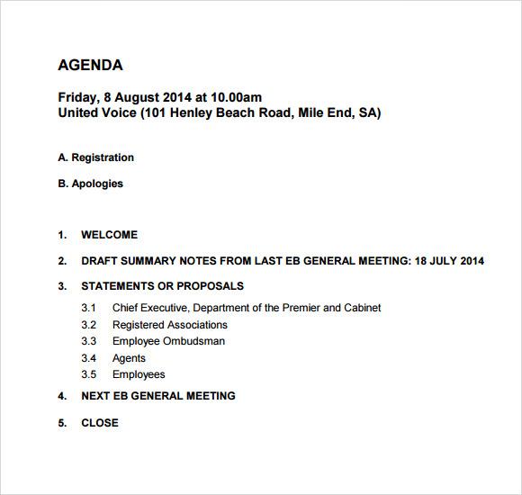 weekly meeting agenda - Seloyogawithjo