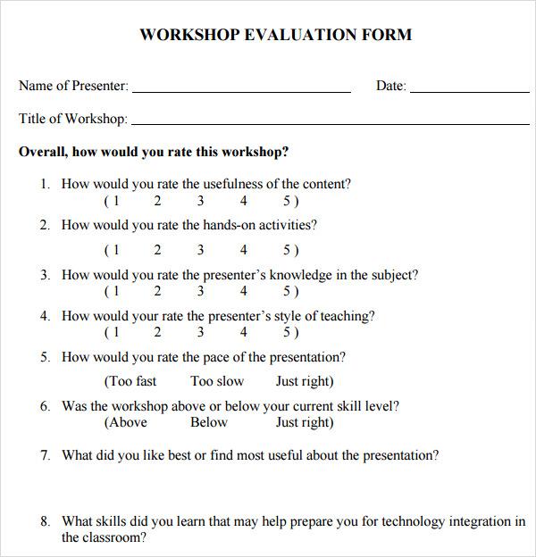 generic evaluation form - Selol-ink