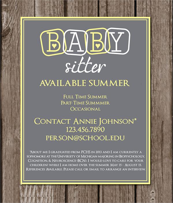 babysitting flyer maker