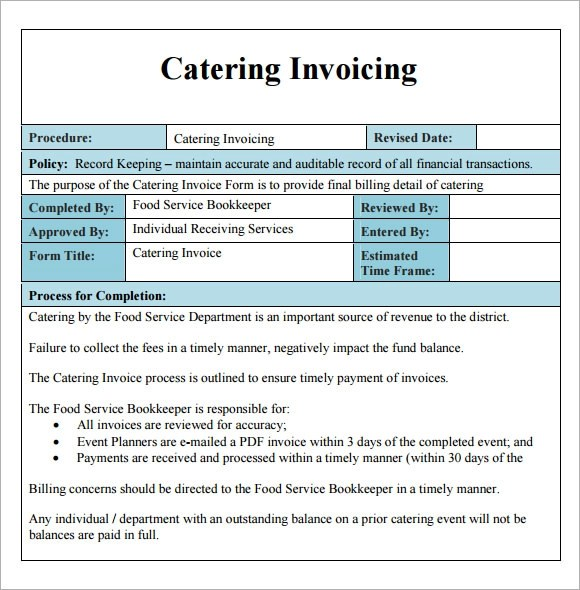 Sample Catering Contract Pdf | How To Write A Great Cover Letter