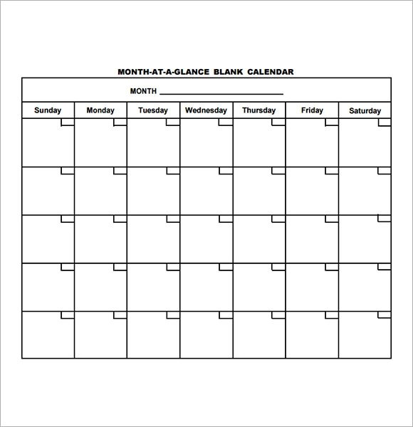 16 Sample Blank Calendar Templates to Download Sample Templates - calendar template