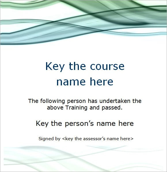 Sample Training Certificate Template - 19+ Documents in PSD, PDF - sample certificate templates