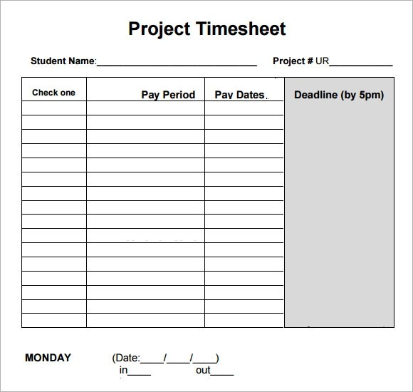 daily project timesheet template - Onwebioinnovate - sample project timesheet