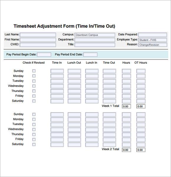 13+ Employee Timesheet Samples Sample Templates