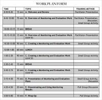 Sample Work Plans | Work Plan