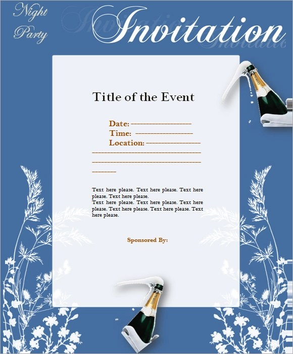 9+ Event Invitations - PSD, Vector EPS, PDF - invitation event sample
