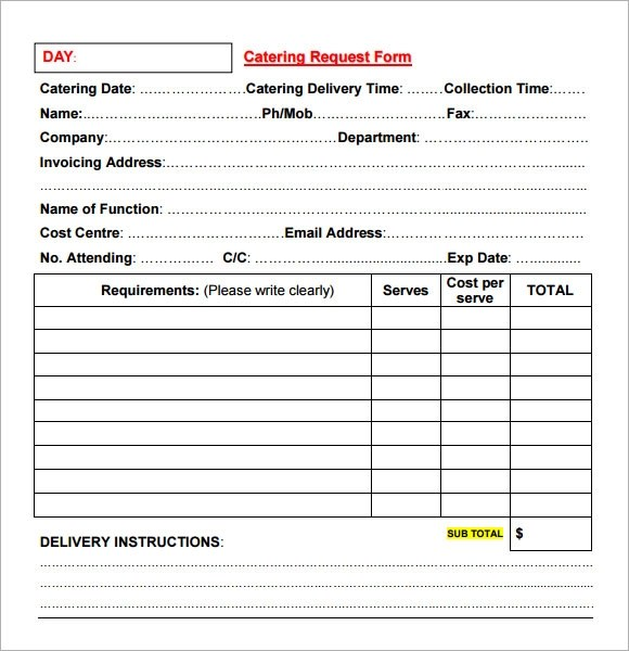 16+ Catering Invoice Samples Sample Templates
