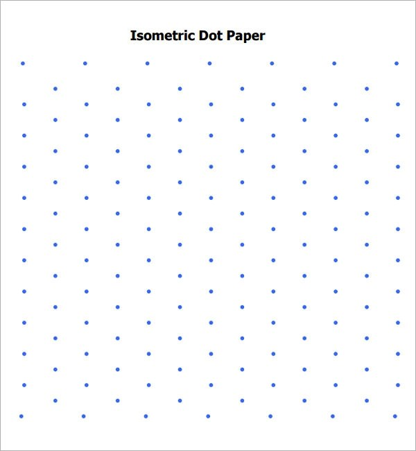 8+ Sample Isometric Dot Paper Templates \u2013 PDF Sample Templates - graph paper download word